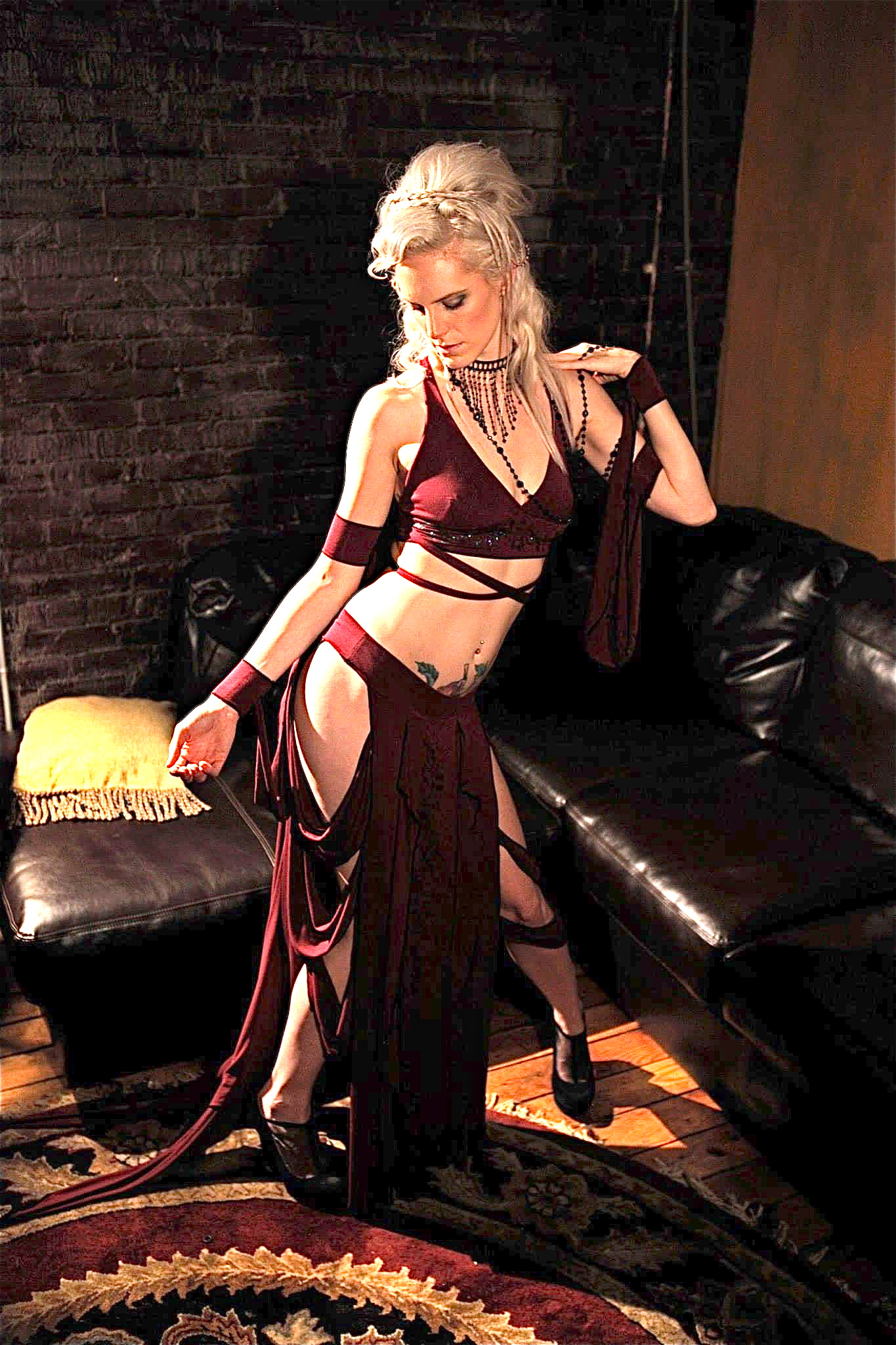 woman in sexy bellydance cosutme by Accentuates Clothing