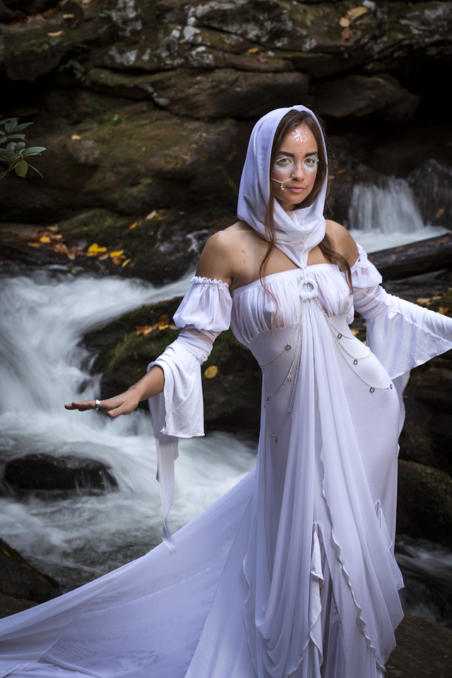 woman in river naiad costume by Accentuates Clothing