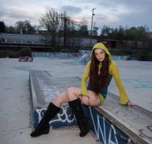 Hood shrug with matching shorts urban outfit by Accentuates Clothing