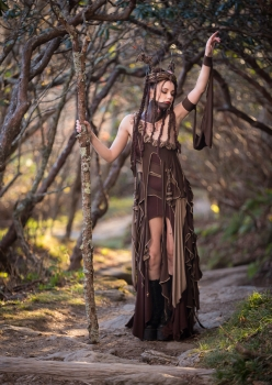 woman in dryad costume by Accentuates Clothing