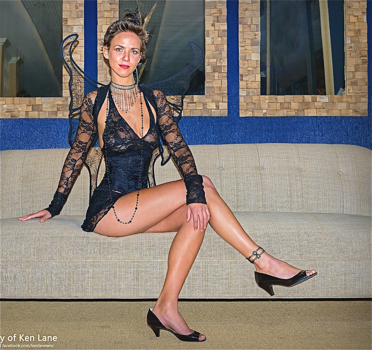 Dark fairy black lace lingerie by Accentuates Clothing