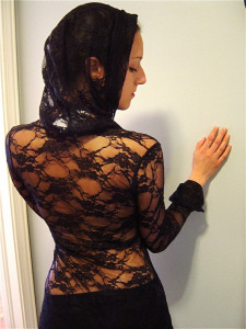 Accentuates Clothing Diana black lace