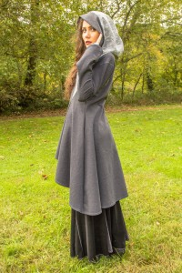 Womens grey hooded cloak jacket www.etsy.com/shop/AccentuatesClothing