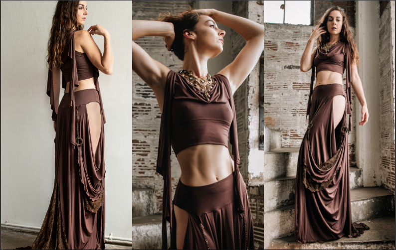 Accentuates-Clothing-the-Kayleigh-crop-top-and-the-Dragon-skirt