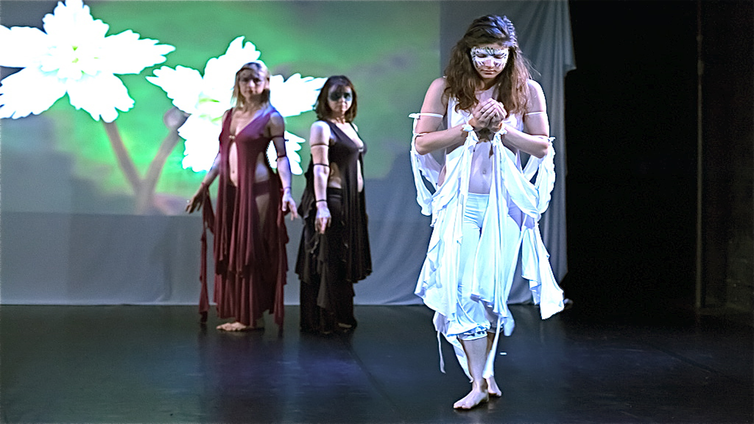 women in dance performance costumed by Accentuates Clothing