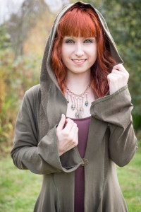 women's green hooded jacket by Accentuates Clothing