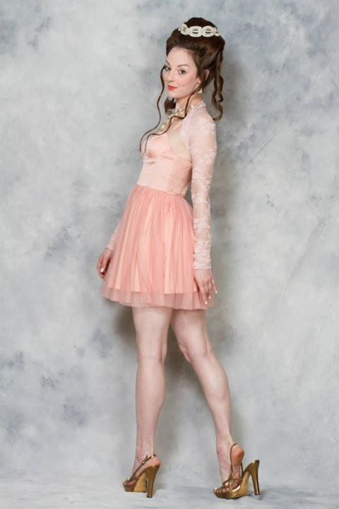 Women's pink lace lingerie shrug by Accentuates Clothing