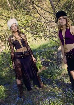 women in brown forest spirit costumes